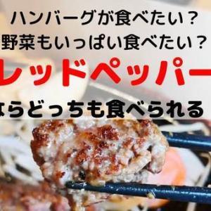 【レッドペッパー南埠頭店】ハンバーグも野菜も!どっちも美味しくたっぷり食べたい!