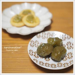 梅シロップの梅で甘露煮
