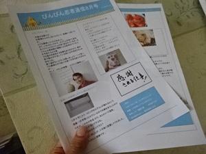 ニュースレターやっと完成~ぴんぴん忍者通信8月号~