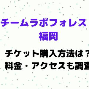 チームラボフォレスト福岡のチケット購入方法は?入場料金・アクセスも調査!