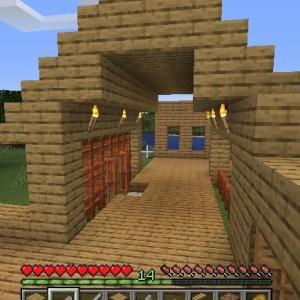 Minecraft 釣り小屋と回廊、建築中!