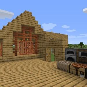 Minecraft 釣り小屋、ひとまず完成?