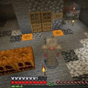 Minecraft 岩盤部屋を作る!南瓜ランタンで熔岩対策