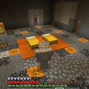 Minecraft 岩盤部屋の輪郭、99.9%完成