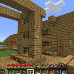 Minecraft バガス紙と図書館 ~4つ目の小さな砂漠の町にて~