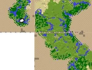 Minecraft 拠点とそれぞれの村の位置と鉄道計画
