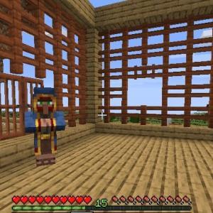 Minecraft 3階射撃練習場と増える蛮族 ~拠点建築作業中~