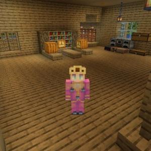 Minecraft 初期地点の拠点完成① ~1階 工房、倉庫、採掘場入り口~