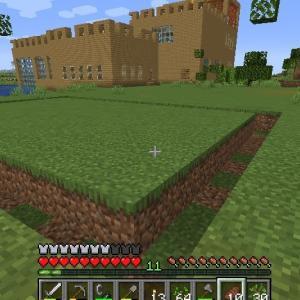 Minecraft 鉄道建設開始とネコちゃん