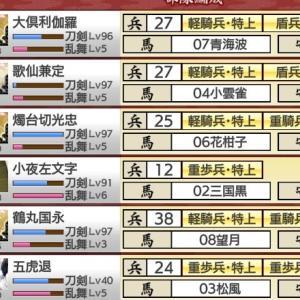 刀剣乱舞 延享江戸と秘宝の里 ~桑名江入手しました~ 2020年12月10日