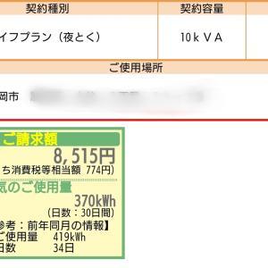 8月の電気代・売電金額発表!