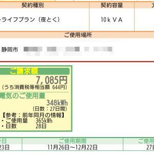 12月の電気代・売電価格発表!
