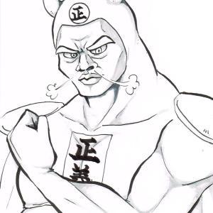 第50回 : 梨紗団長が軍団員の白黒キャラを描いてみた!その1「ぺペンタ」