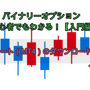 バイナリーオプション 初心者でもわかる!【入門編】 ②チャート(MT4)のダウンロードと設定
