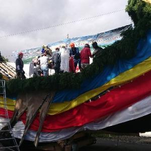 秋祭り。安曇野の山車、お船祭り