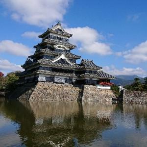 本日快晴、松本城はくっきり