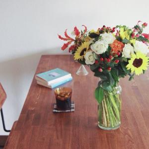 花とアイス珈琲