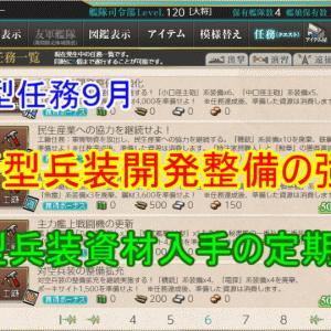 【年間型任務9月】新型兵装開発整備の強化