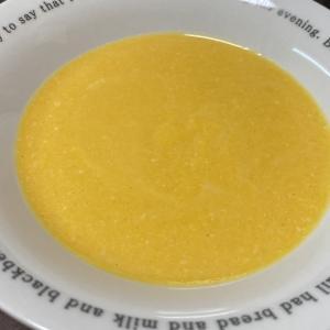 バターナッツかぼちゃで甘~いカボチャスープ。ペーストは離乳食にも。