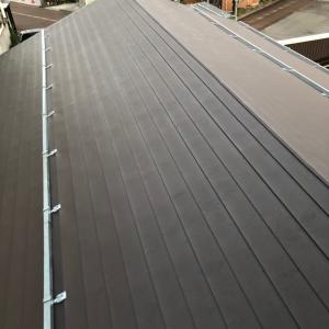 屋根のリフォーム完了と雨水処理
