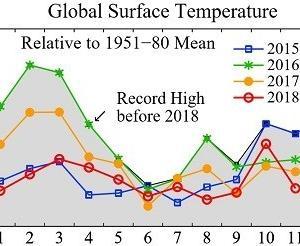 11月の世界平均気温、4年連続下げる