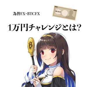 1万円チャレンジとは?メリット・デメリット〜為替FX・BTCFX〜