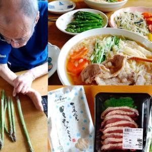 59.2kg 「津村製麺所」の麺はやっぱり美味しい(*>∀<) アスパラパラダイス(*>∀<)