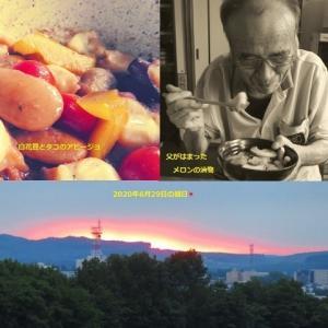 58.5kg 【白花豆とタコのアヒージョ】【メロンの漬物】美味しかった~ヾ(≧∀≦*)ノ〃 9時間でマイナス700gの話。