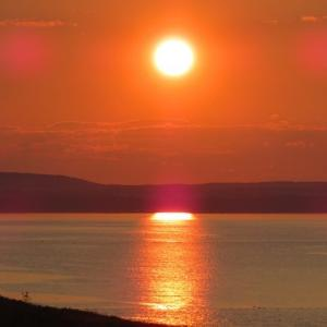 58.5kg オホーツク海の夕日。