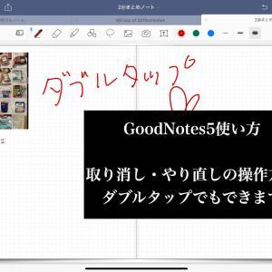 ⑬【GoodNotes5使い方】   取り消し・やり直し の操作方法