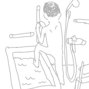 片麻痺の浴槽跨ぎ動作で下肢を出す順番は?