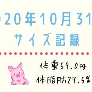 【2020年10月④】全身サイズ記録(162センチ59.0キロ)