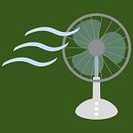 夏でも扇風機。