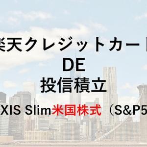 【6カ月実績】楽天カード決済で投信積立【eMAXIS Slim米国株式(S&P500)】