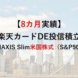 【8カ月実績】初心者必見!eMAXIS Slim米国株式(S&P500)投信積立【楽天クレジットカード決済】