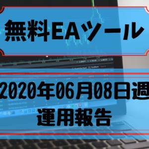 【無料EA】2020年06月08日週の運用報告