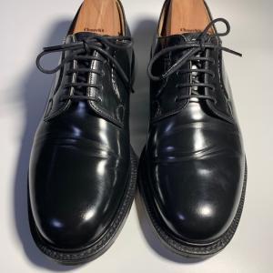 報告!1ヶ月雨の日限定で履いてみたらシャノンにいい感じの履きジワが入ってきました。