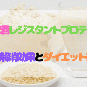酒粕甘酒レジスタントプロテインの便秘解消効果とダイエット効果