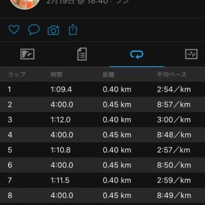 レペティション400m×10(レスト4分)