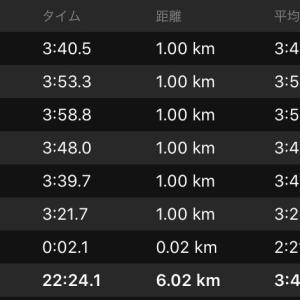 ペース走6km