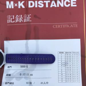 【速報】MxKディスタンス5000m