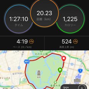 ジョグ20km 【レポ】MxKディスタンス