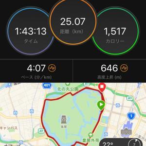 ペース走30km→25kmDNF
