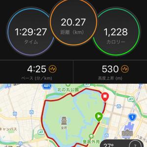 ジョグ20km 7月月間走行距離