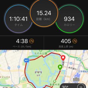 ジョグ15km