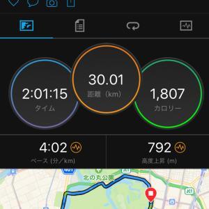 30km走 10月振り返りと11月練習計画
