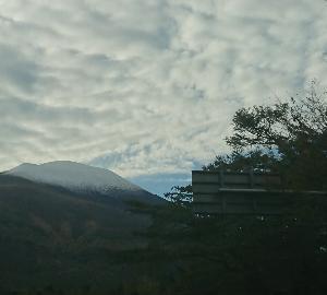 浅間山ー初冠雪