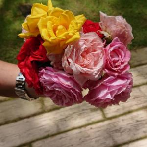 花束と次のクレマチス