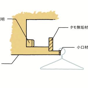 【第2回】整理収納の視点で見る造作家具 ハンガー収納になる照明編