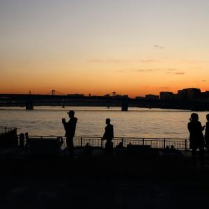 シルエット「豊洲の夕景」